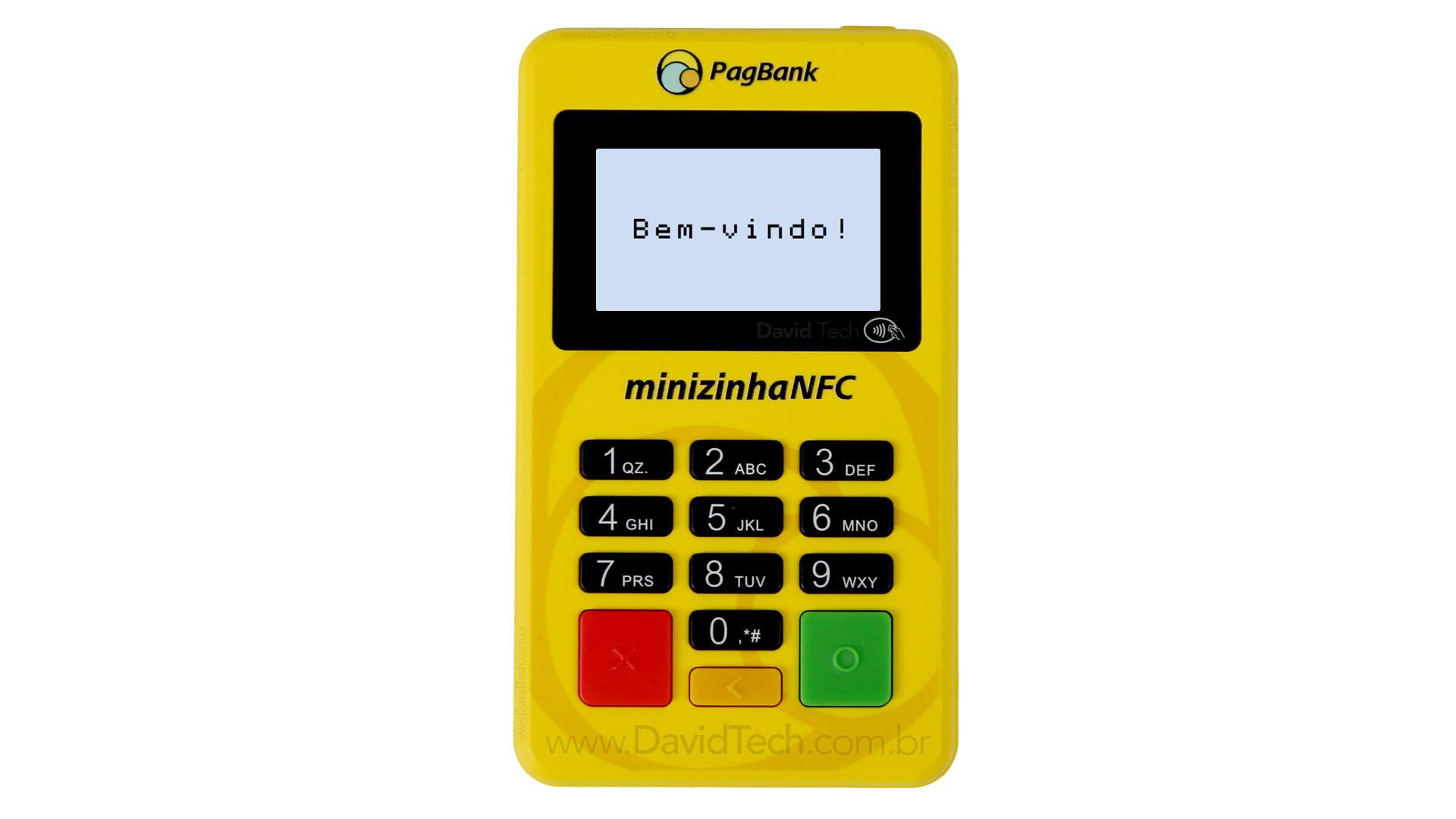 Nova Máquina de Cartão Minizinha NFC - D175-BT