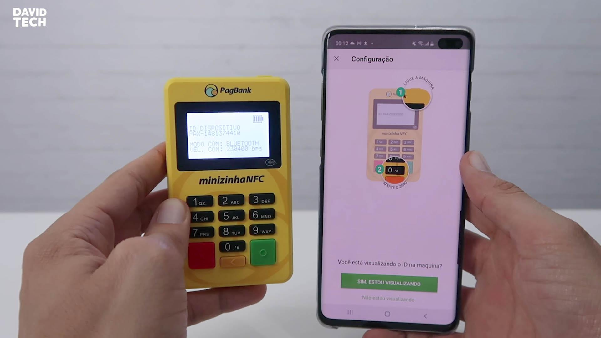 configurar e usar a maquina de cartão minizinha NFC