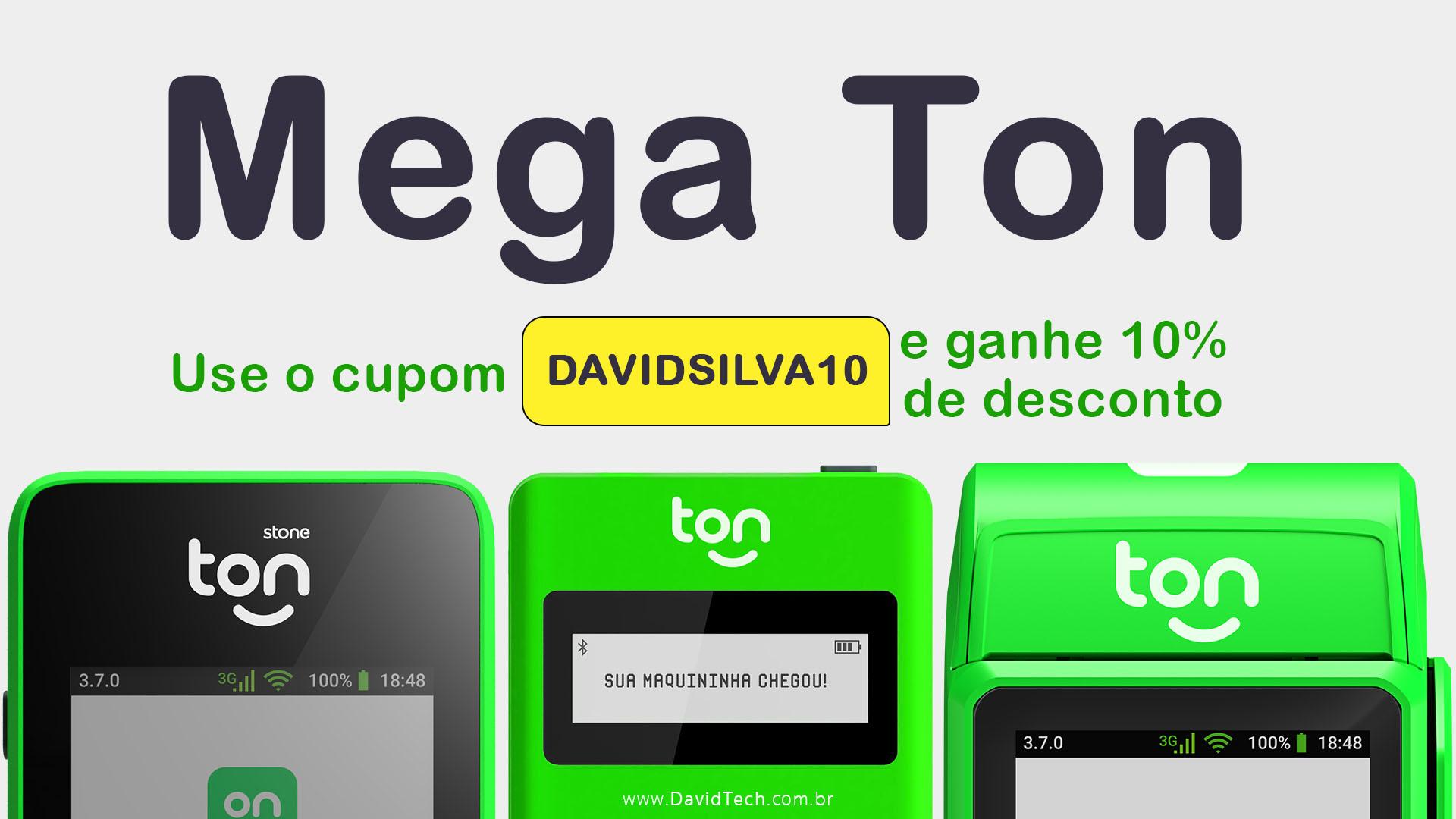 mega ton - stone - máquina de cartão